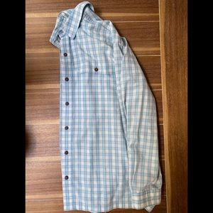Blue and white Patagonia button down
